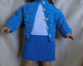 147 Button Down Sweater Set  - Crochet Pattern  for American Girl Dolls