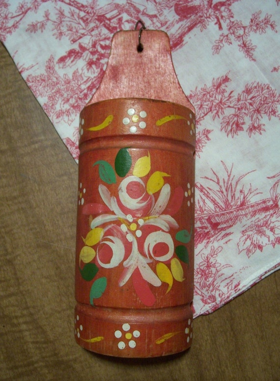 German Tole Painted Match Holder