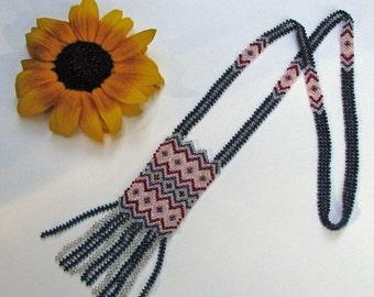 HANDMADE one of a kind Peyote  Necklace