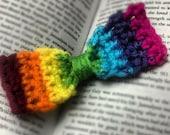 Rainbow Hair Bow/Bow Tie - Photography Prop