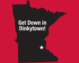 Get Down In Dinkytown Red Shirt in S, M, L, XL, XXL