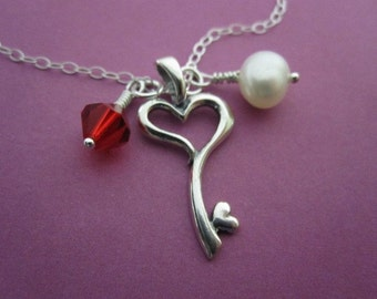 To My Heart, You Hold the Key Necklace