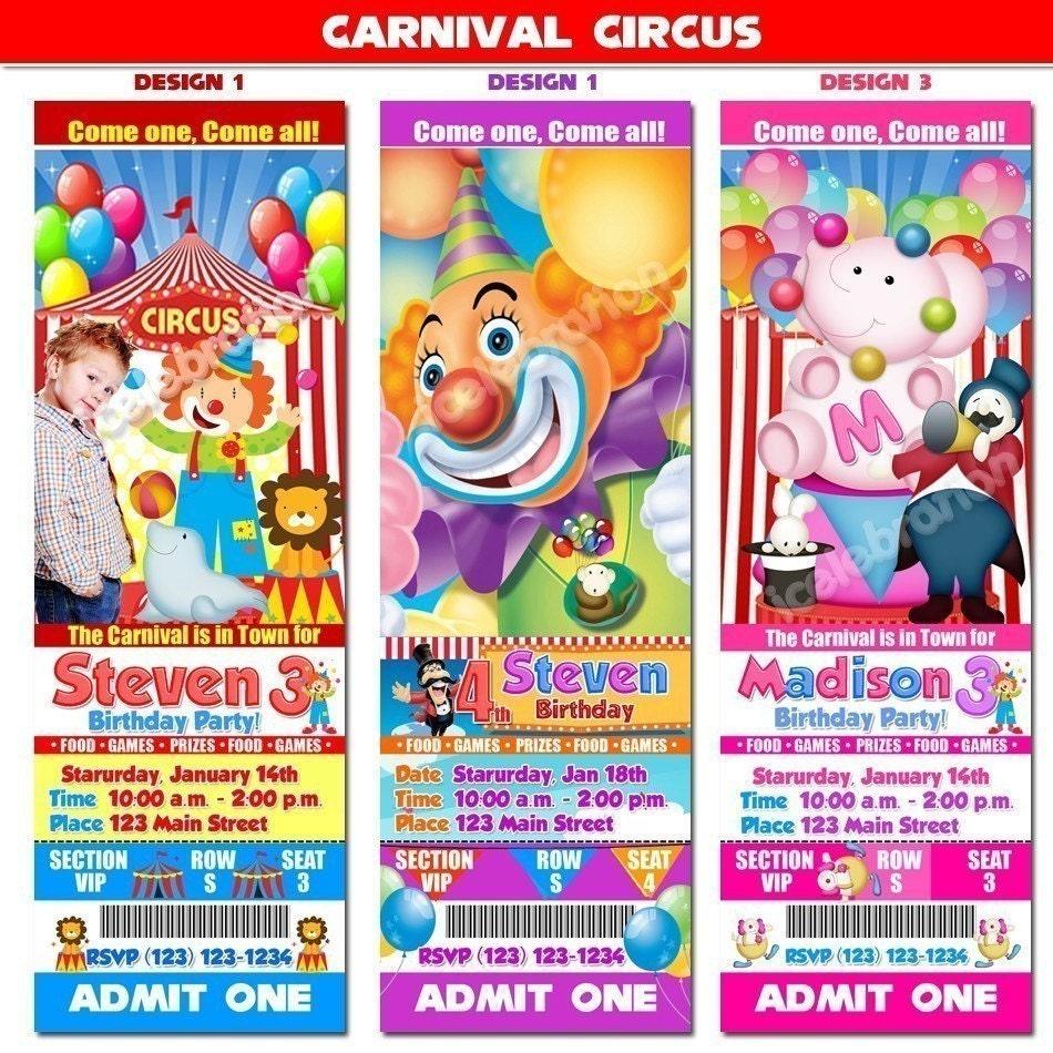 Carnival Birthday Invitations with good invitation ideas