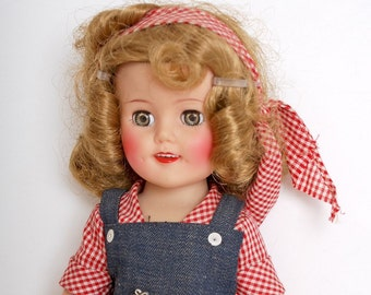 MIB 15 Inch Vinyl Shirley Temple Doll Rebecca of Sunnybrook Farm