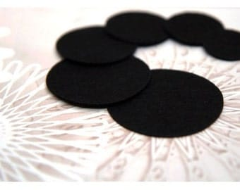 20PCS 35mm(1 7/16inch)  Nonwoven Fabric Kraft Circle for  Flower or Corsage Professional Finished.
