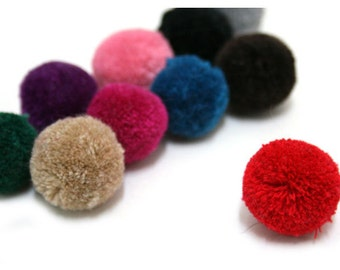 35mm Yarn Pom Pom - Pick Your Colors - 13 Different Colors