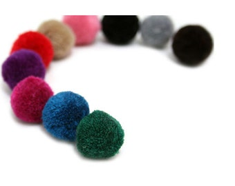 15mm Yarn Pom Pom - Pick Your Colors - 21 Different Colors