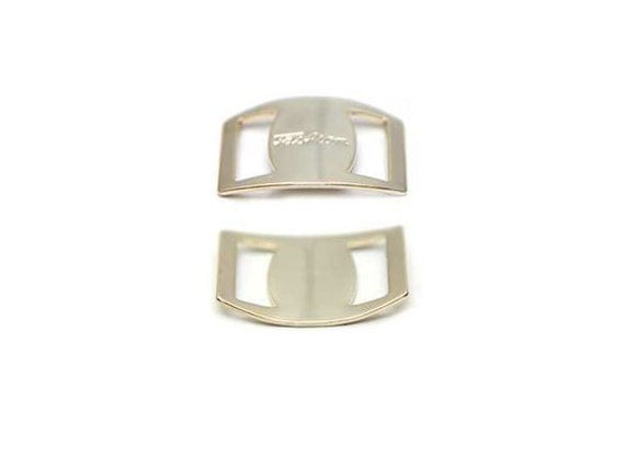 5PCS - 16mm X 10mm(10mm Inside hole) Simple Fashion Buckle - 14K Gold Plated