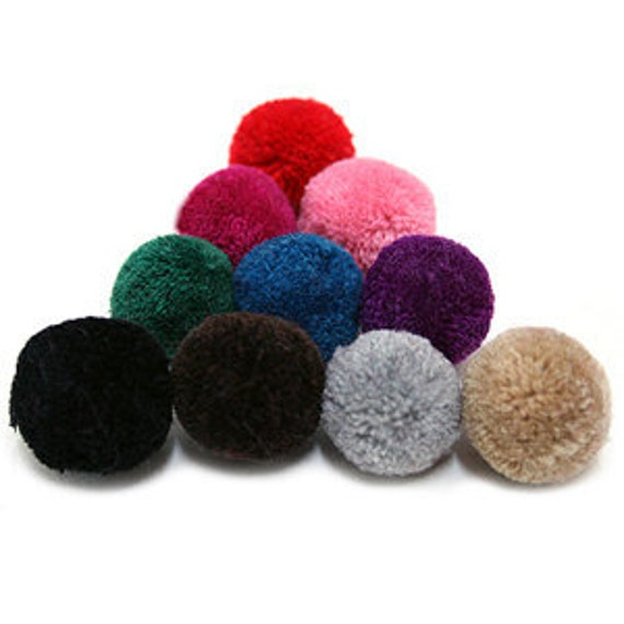 10 PCS Yarn PomPom 25mm - Pick Your Colors - 21 Different Colors
