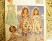 Darling Little Girl's Easter Dresses-Butterick Pattern Size 2-3-4