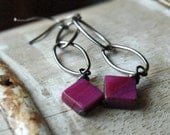RESERVED Festive Fuchsia Earrings