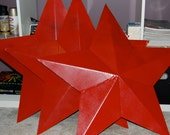 "3x - - 32"" RED NAUTICAL STARS- Rerserved for Amazae"