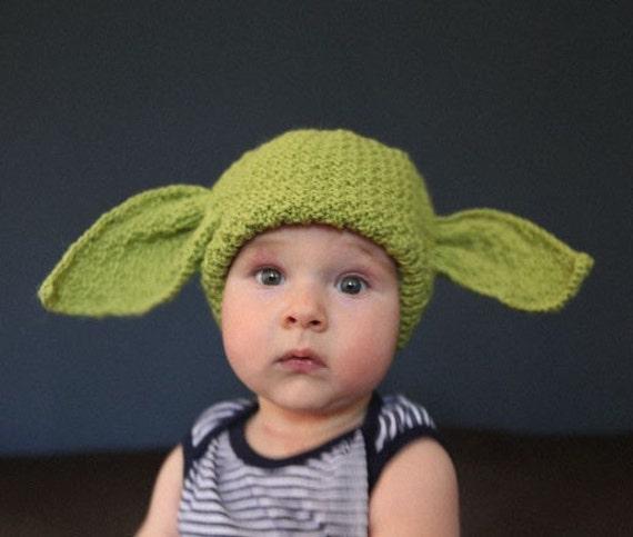Free knitting pattern yoda hat durgapurfo for baby yoda hat in green original knit star wars dt1010fo