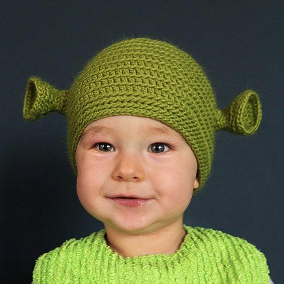 Baby Shrek Beanie 9 To 12 Months