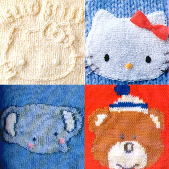 out of print - Japanese knit pattern BOOK s60 SANRIO character Knit for child RARE
