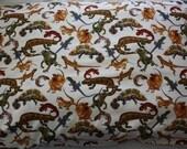 Pillowcase, lizard, boys pillowslip, standard size