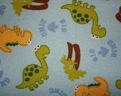 Dinosaurs Flannelette Pillowcase, standard size