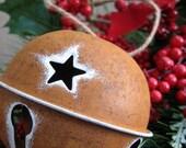Rustic Star Bell Ornament