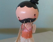 Cheeky Mustache Girl - MADE TO ORDER