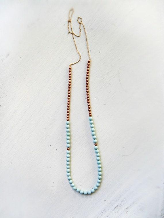 Mint copper necklace