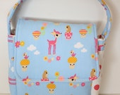 Childrens Lunch Box, Fresh Modern Eco Friendly with Forest Critters and Polka Dots