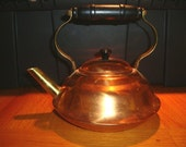 Coppercraft guild copper and brass tea kettle