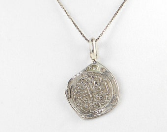 Sterling Silver Piece of Eight Pendant - Free Domestic Shipping to US