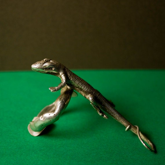 Sterling Silver Lizard Ring - Free Domestic Shipping to US
