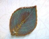 Fall In Love Ceramic Leaf Spoon Rest