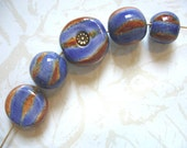 Blue Bayou Ceramic Beads (5)