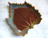 Red Rocks Of Sedona Ceramic Leaf Spoon Rest