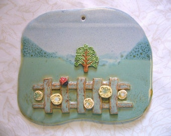 Tree Of Life 3-D Pottery Wall Hanging