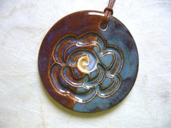 The Unusual - Dark And Mysterious Ceramic Pendant