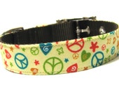 Dog Collar- Groovy Peace & Love