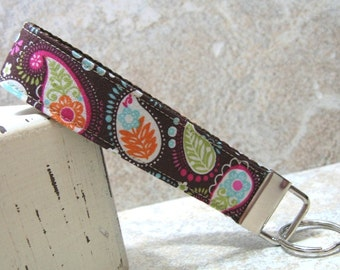 Pretty in Paisley Wristlet Key Chain