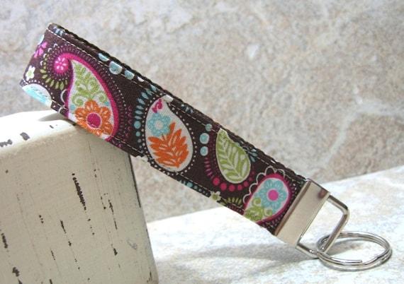 Pretty in Paisley Wristlet Key Chain