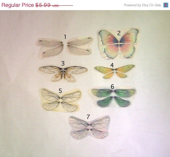 ON SALE Ready to Finish Fimo Dragonfly Wing Sets No 1