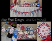 Sports Gameday Party Package - Will Change to Your Favorite Team-  Ole Miss - DIY Print your own