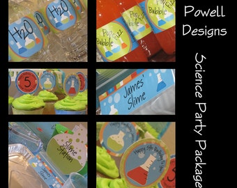 Science, Kids Scientist Custom Birthday Party Package - Medium