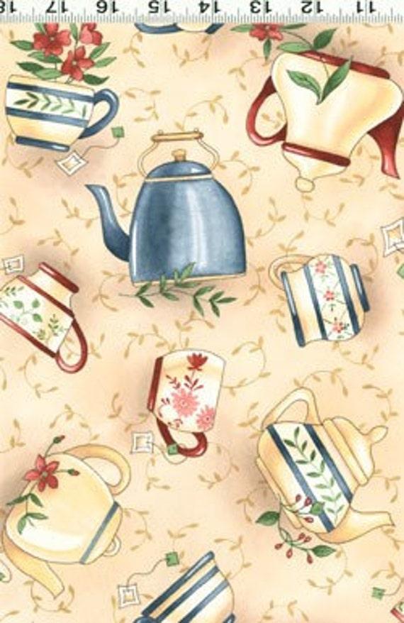 CLEARANCE SALE - Diane Knott Tea Party  - 1 Yard