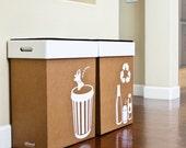 Hobnob Pop-up Party Bins - Trash and Recycle Bin Set
