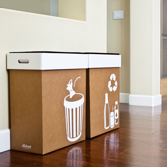 items similar to hobnob pop up party bins trash and recycle bin set on etsy