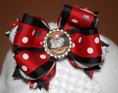 UGA Go Dogs Themed OTT Boutique Layered Bow