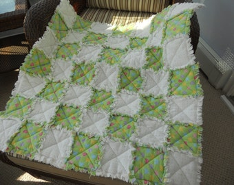 Rag Quilt Baby Blanket - perfect beach blanket