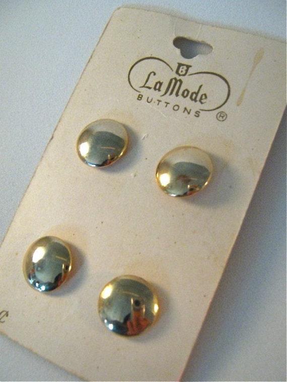 Vintage La Mode Gold Buttons