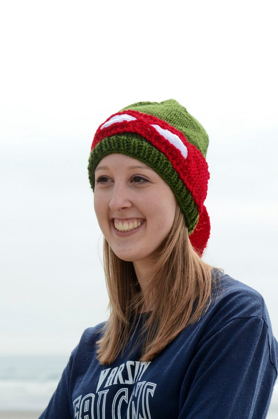 Ninja Turtle Red Knit Hat - Raphael
