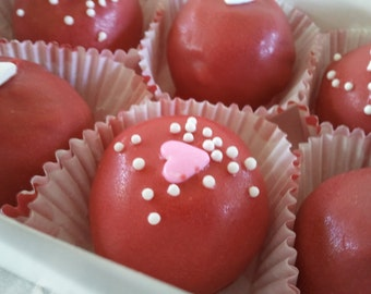 Sweet Red Valentine's Cake Ball Bites (8 pack)
