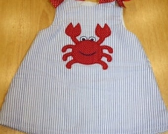 Crab A-line dress with Bows