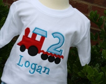 Boys birthday train outfit by Gigibabies