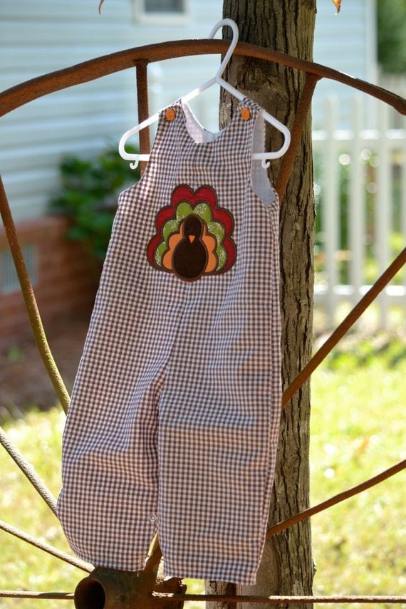 Boys gingham turkey longall by Gigibabies